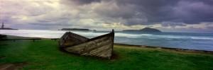 Row boat in historic Kingston, Norfolk Island